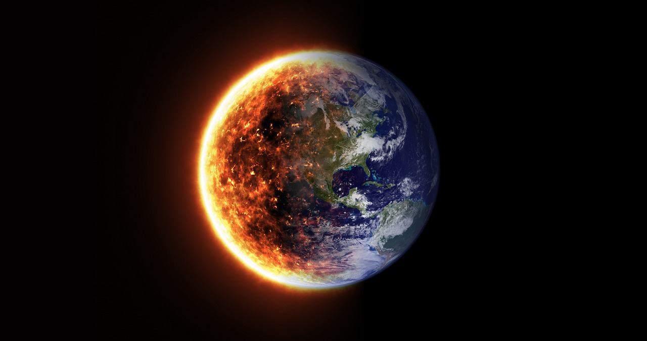 stellt die Erhitzung der Erde dar